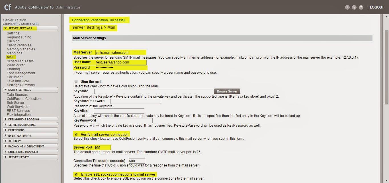 Coldfusion and javascript framework blog setting up e mail server using yahoo smtp server setting 1betcityfo Image collections