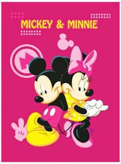 Grosir Selimut Rosanna Soft Panel Blanket Mickye Minnie