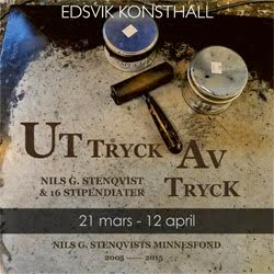 Uttryck Avtryck visas 21 mars - 12 april på Edsvik Konsthall Öst.