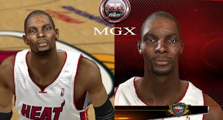 NBA 2K13 Chris Bosh Cyber Face Patch
