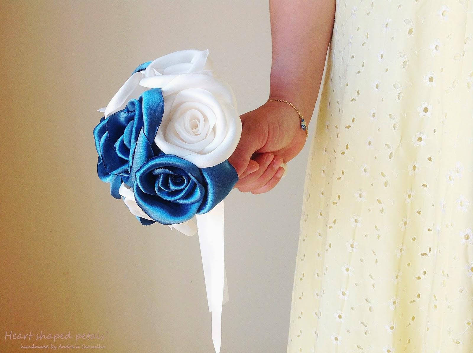bouquet de noiva em tecido