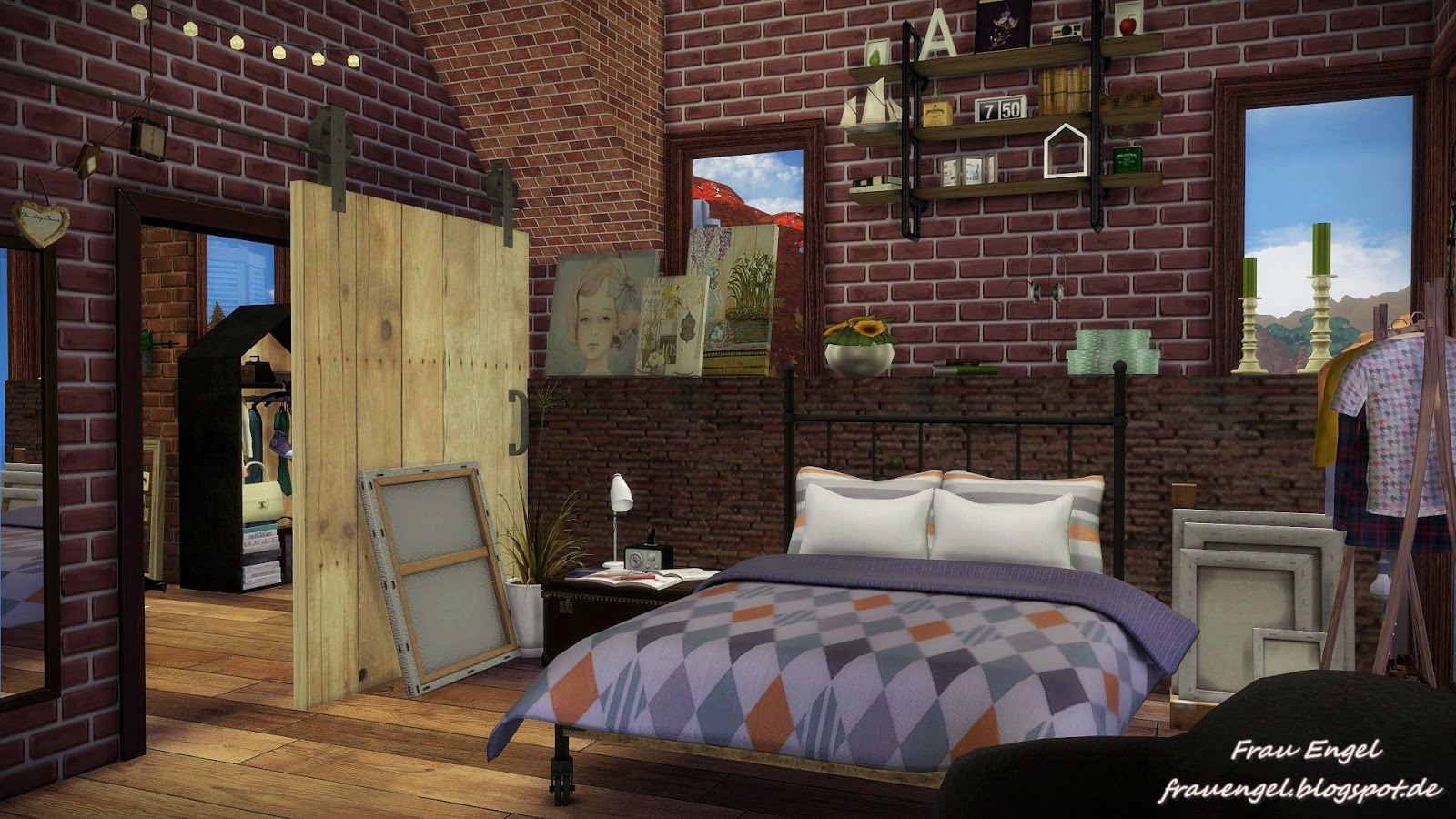 My sims 4 blog 129 autumn street by frau engel for Classic house sims 4