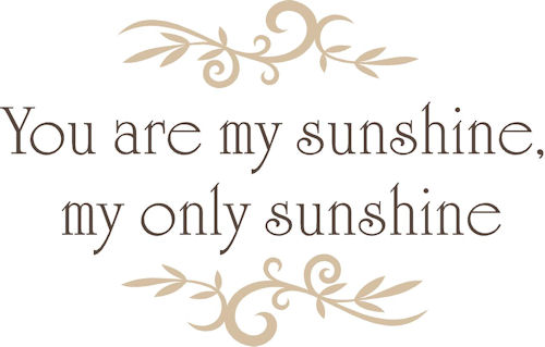 Extremely Close but Incredibly FarYou Are My Sunshine My Only Sunshine Tumblr