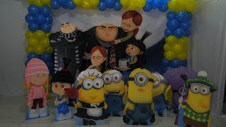 decoração dos Minions Curitiba