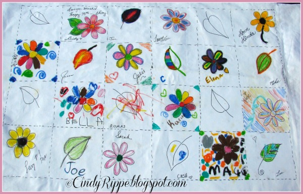 #Fabric Painting, #Easy fabric project, #Pentel, #gift for grandparent, #family love, #90th birthday, #Florals-Family-Faith, #Cindy Rippe, #Desmond Tutu quote, #Family quote, #quilt design pillowcase