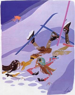 Edmond Kiraz illustration ski winter sport