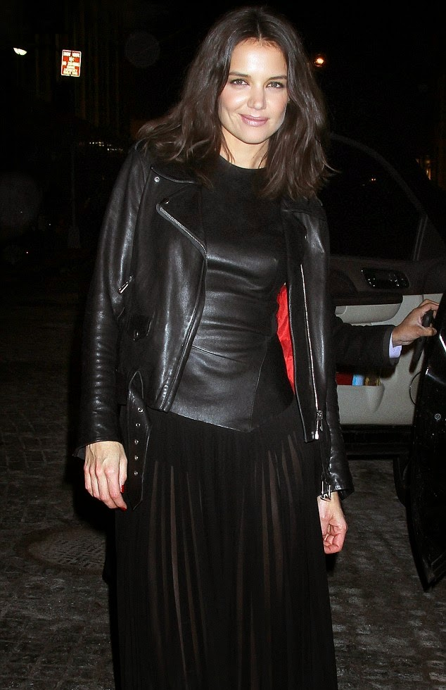 Leather Leather Leather Blog: Katie Holmes Leather Jacket Katie Holmes