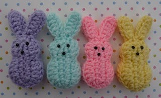 Best Free Crochet » #80 Easter Bunny Crochet Dishcloth