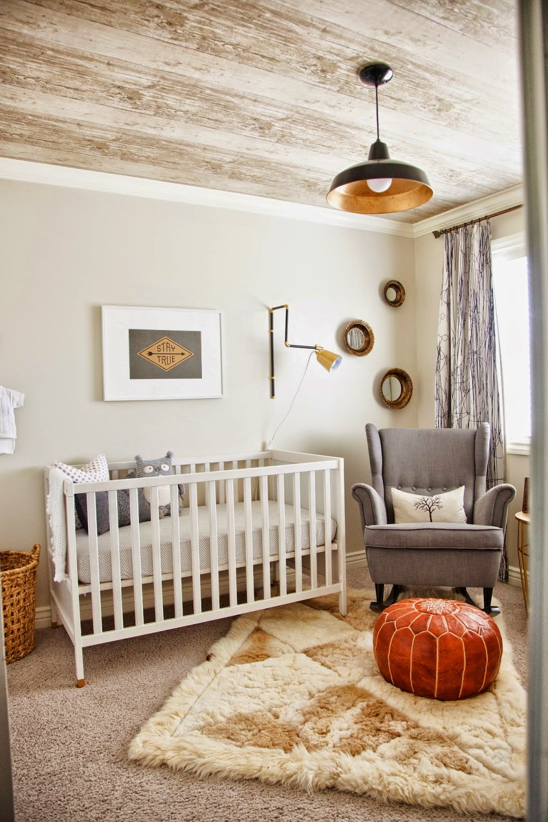 I Love This Clever DIY, The Chair Was Converted To A Rocker For A Nursery.