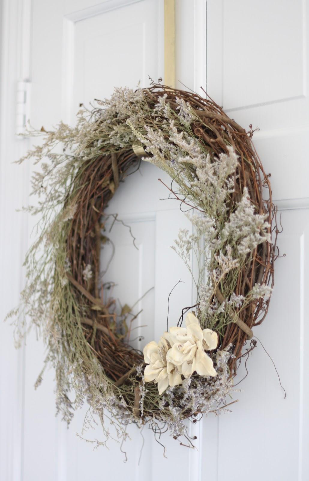 Diy dried wreath tutorial