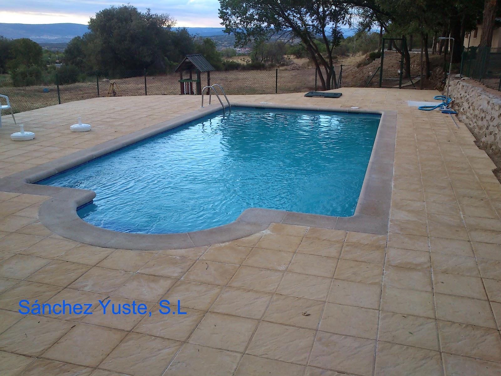 S nchez yuste sl construcci n de piscina hormig n armado for Como se hace una piscina