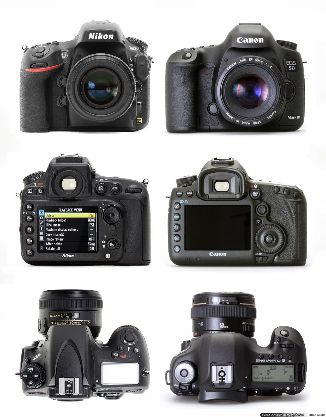 Comparing the Nikon D800 to the Canon EOS 5D Mark III ~ Digital ...