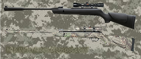 Camuflaje para armas de aire deportivo, Camuflajear un rifle de aire, Modelos de camuflaje
