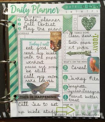 October Dailies by Lynn Shokoples for BoBunny featuring the Calendar Girl Collection