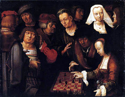 chess painting lucas van leyden