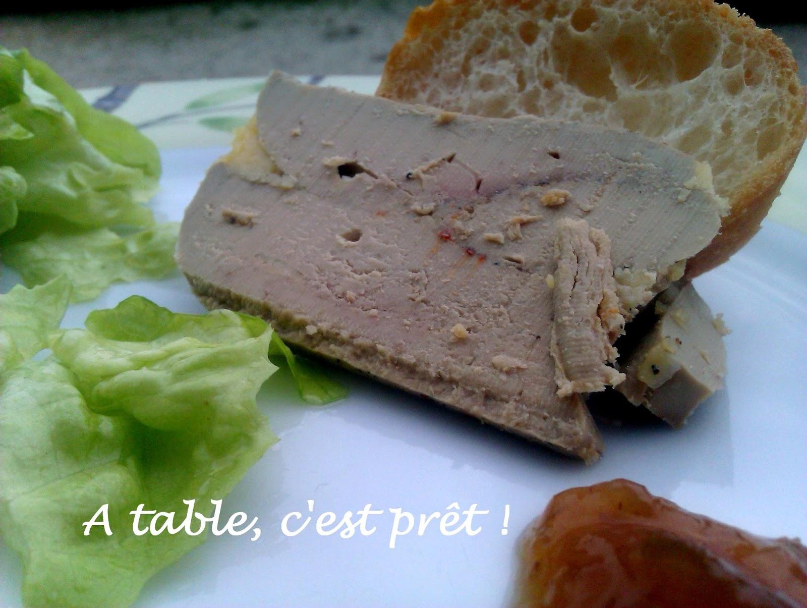 Table c 39 est pr t terrine de foie gras cuisson minute - Cuisson foie gras en terrine ...