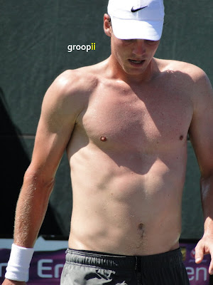 Tomas Berdych Shirtless at Sony Ericsson Open 2011