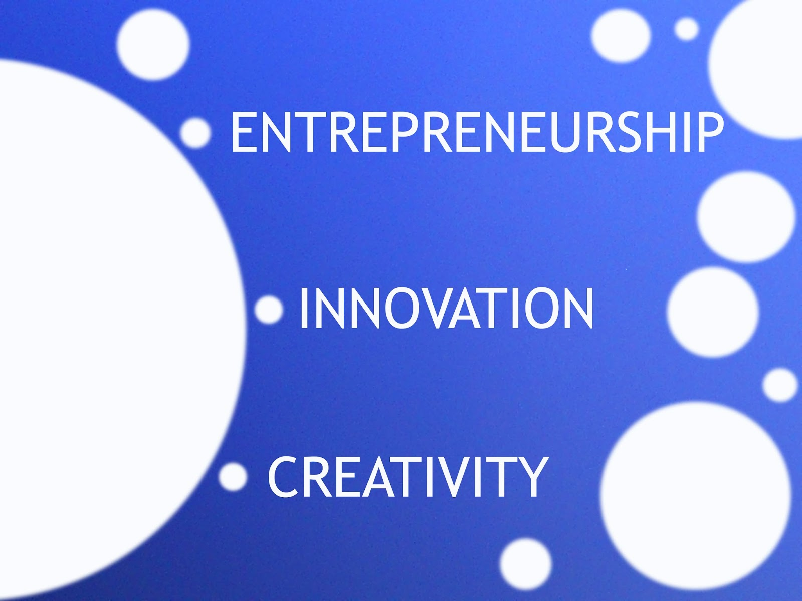 essay entrepreneurship innovation Entrepreneurship sample essay an entrepreneur is an individual who creatively comes up with ideas that he or she further transforms for the economic benefits while assuming all related risks brannback and carsrud define an entrepreneur as an individual who is associated with generation of new activities while ensuring the act is done (4.
