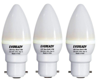 Flipkart : Eveready 0.5 watt pack of 3 LED bulbs at Rs 129 only:buytoearn