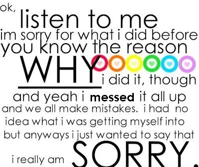 Sorry Im So Lonely...