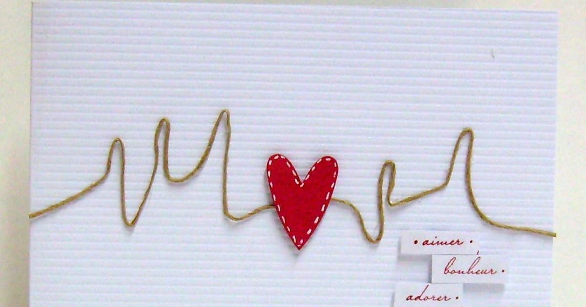 Papierscrapetc une carte pour la st valentin tr s originale - Carte saint valentin originale ...