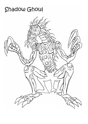 Halloween Scary Ghouls Coloring Pages