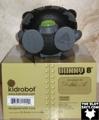 Toy Review: Kidrobot Ironclad Decimator 8 Inch Dunny Chase & Packaging (Bottom) by Doktor A