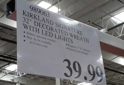 Deal for Kirkland Signature 32in Decorated Christmas Wreath at Costco