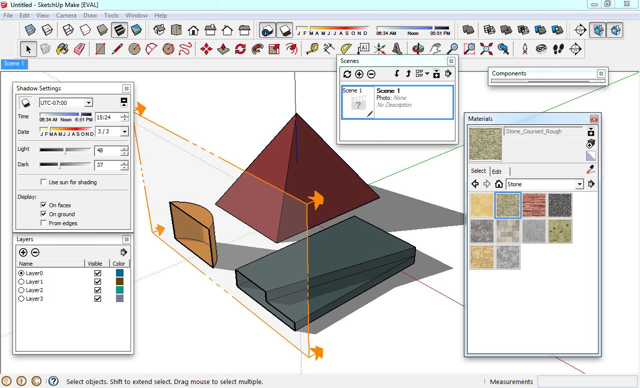 Arquitetura e desenho sketchup 2013 praticamente igual a for Sketchup 2013
