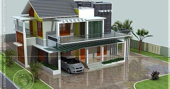 353 Square Yards Contemporary House Kerala Home Design
