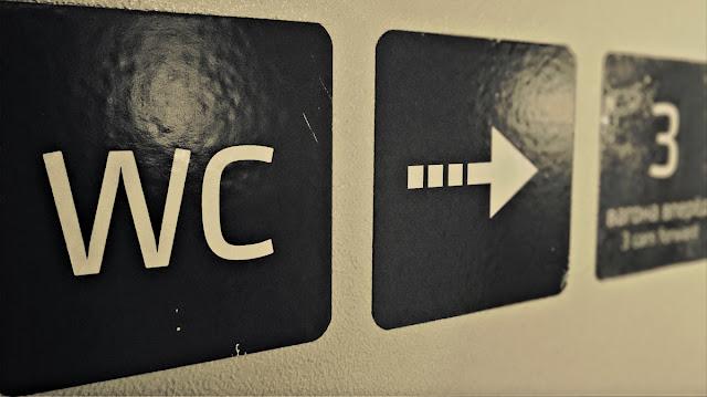 WC 3 вагона вперёд. Около-железнодорожное. Фотография железная дорога черно-белая сепия