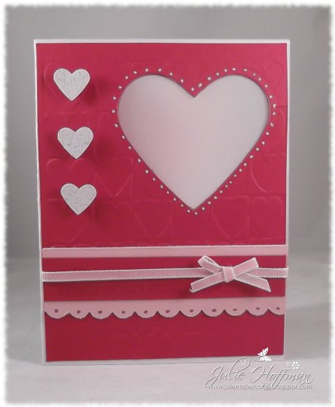 I Used The New Stampin Up Heart Framelits Dies For The Heart And The Small  Heart Punch From Stampin Up For The White Sparkly Hearts On The Front.