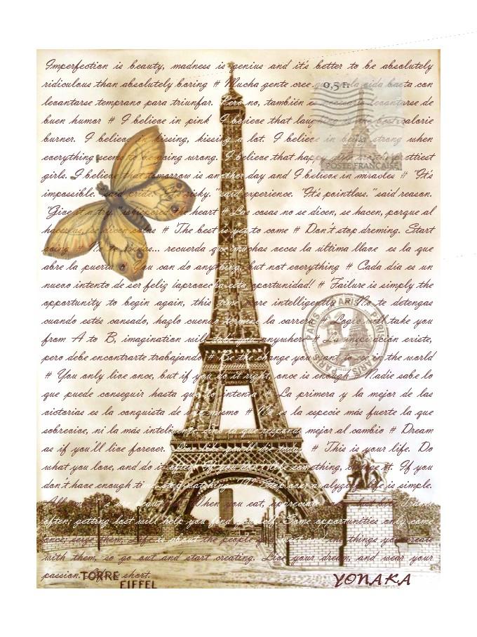 lamina torre eiffel tower print