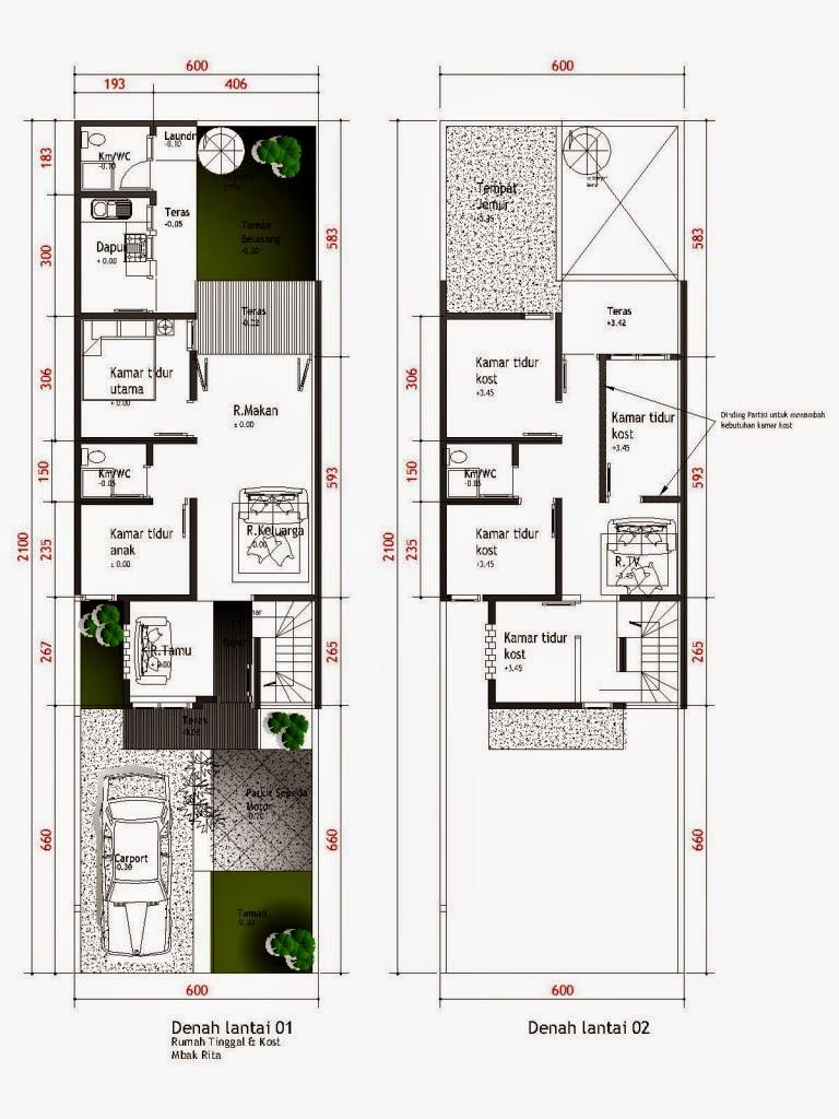 Desain Rumah Minimalis 2 Lantai 10X12