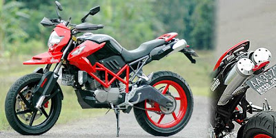 Honda Mega Pro Trail Supermoto Modified