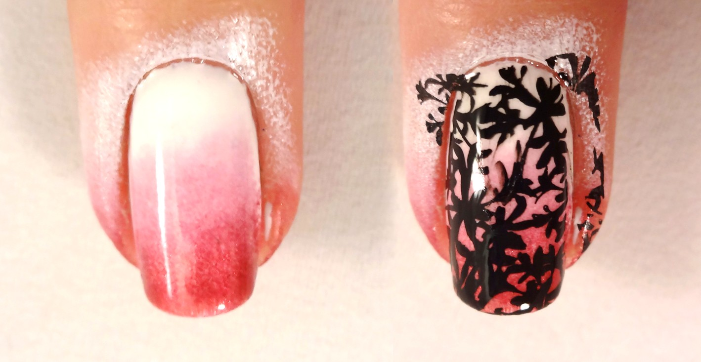 Floral Gradient Nail
