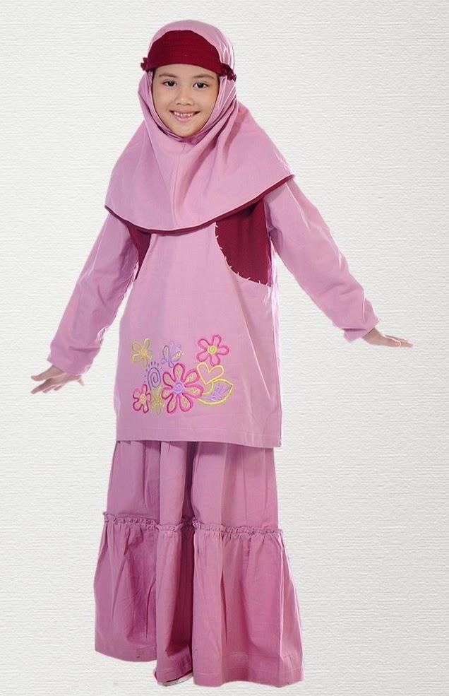 Gambar busana muslim anak perempuan sederhana
