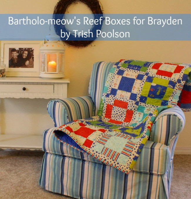 Free quilt pattern using Moda BARTHOLO-MEOW'S REEF Fabric