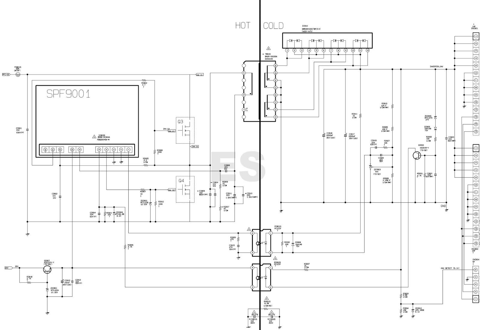 ELECTRONIC EQUIPMENT REPAIR CENTRE : SAMSUNG BN44-00622B Power ...