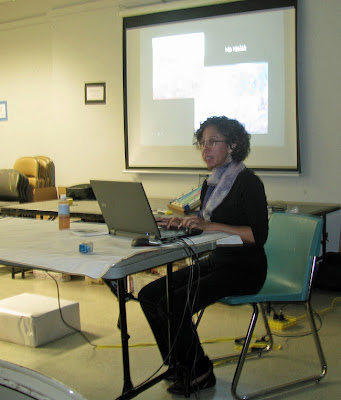 Deborah Younglao silk painting presentation