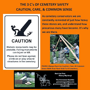 """The 3C's of Cemetery Safety - Caution, Care & Common Sense"""