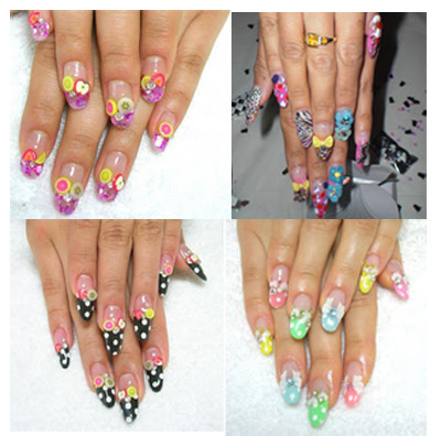 nail nailart 3dnailart arylicnail art kawaii japanese candy design cool best hello kitty candy tokyo 2528162529 - Nail Art