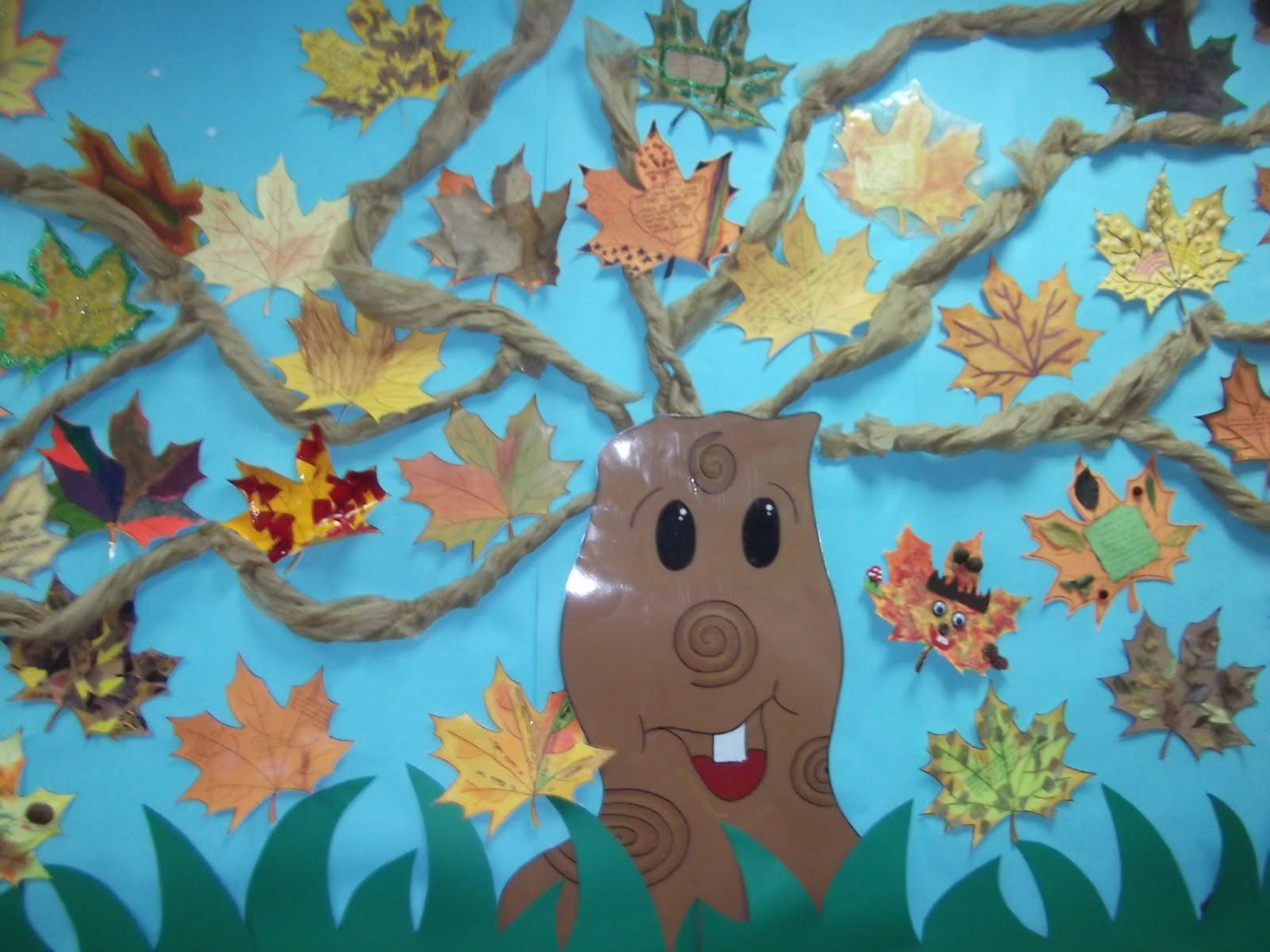 Vamos creciendo noviembre 2012 - Decorar hojas de otono ...