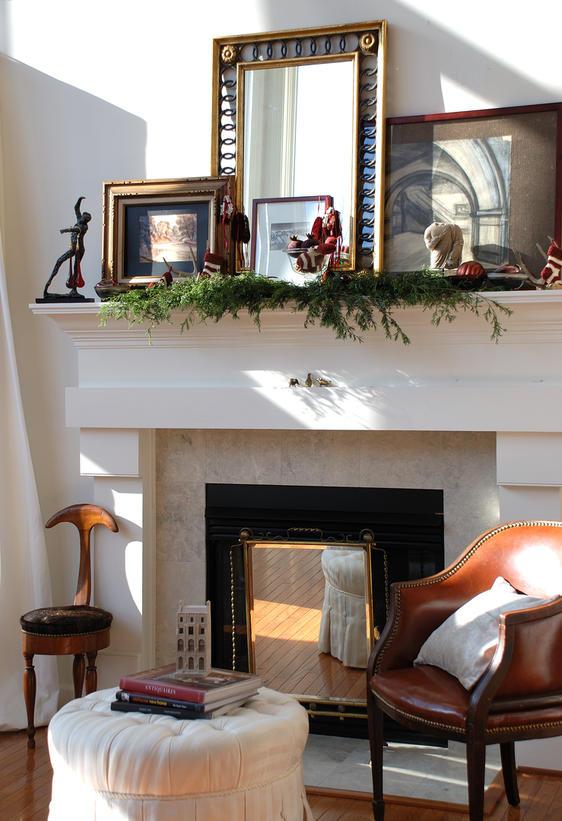 fireplace decorating january 2012