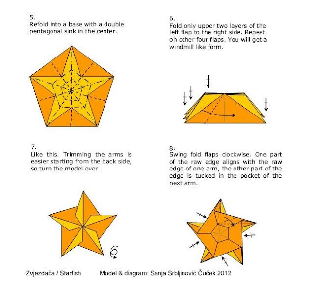 El arte del origami estrella de mar - Origami de una estrella ...