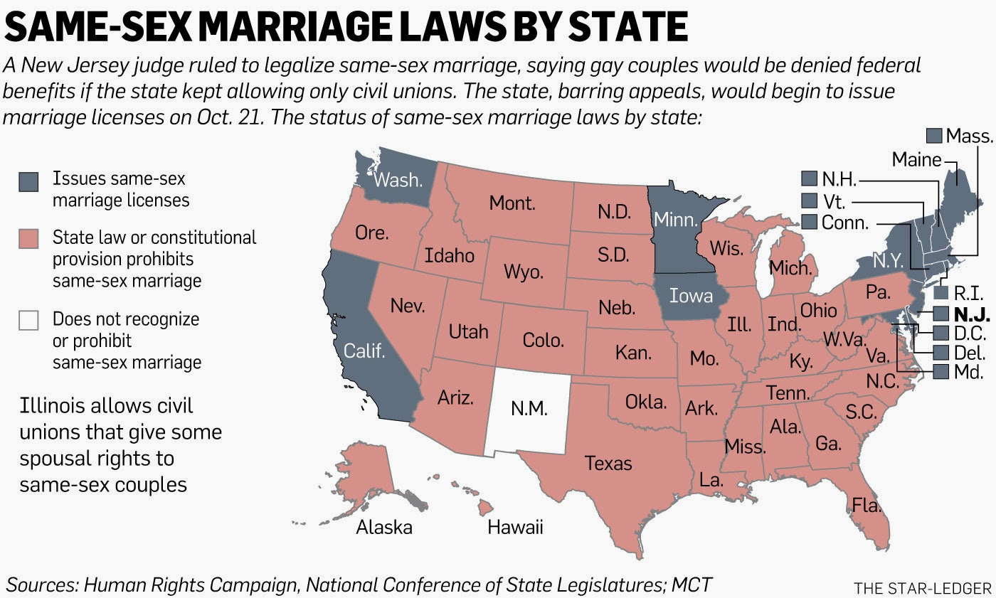 from Deacon gay marriage ban states