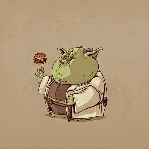 Yoda con sobrepeso