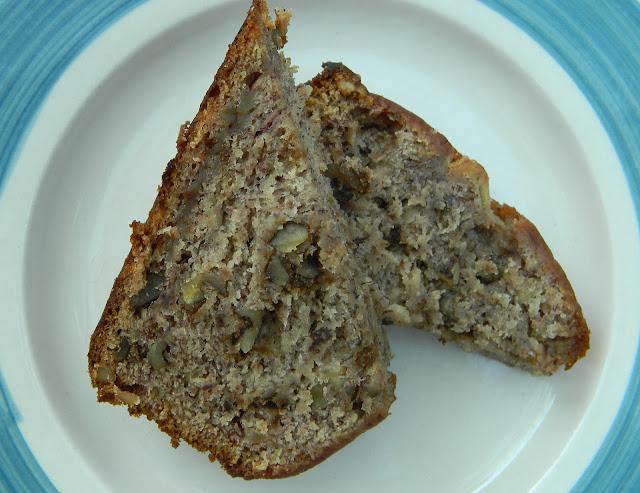 banana black walnut bread