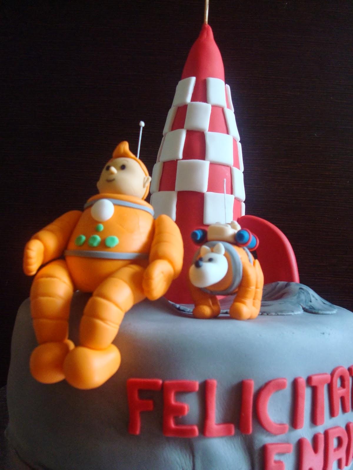 tarta fondant Tintin