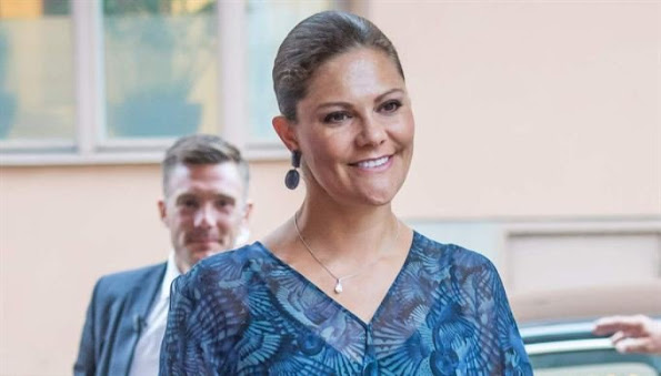 Crown Princes Victoria of Sweden attended the 2015 Stockholm Junior Water Prize held at the Grand Hotel in Stockholm